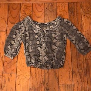 Zara blouson python print blouse